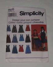 Simplicity Sewing Pattern 8638 Kids Design Your Own Jumper Size AA - NEW... - $7.91
