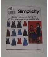 Simplicity Sewing Pattern 8638 Kids Design Your Own Jumper Size AA - NEW Uncut - $7.91
