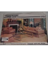 Vogue 1711 Sewing Pattern Furniture Slip Covers Pattern for Living New U... - $9.89