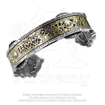 Spectrostatic Nocturnium Steampunk Wrist Cuff Bracelet A15 by Alchemy Em... - $59.95