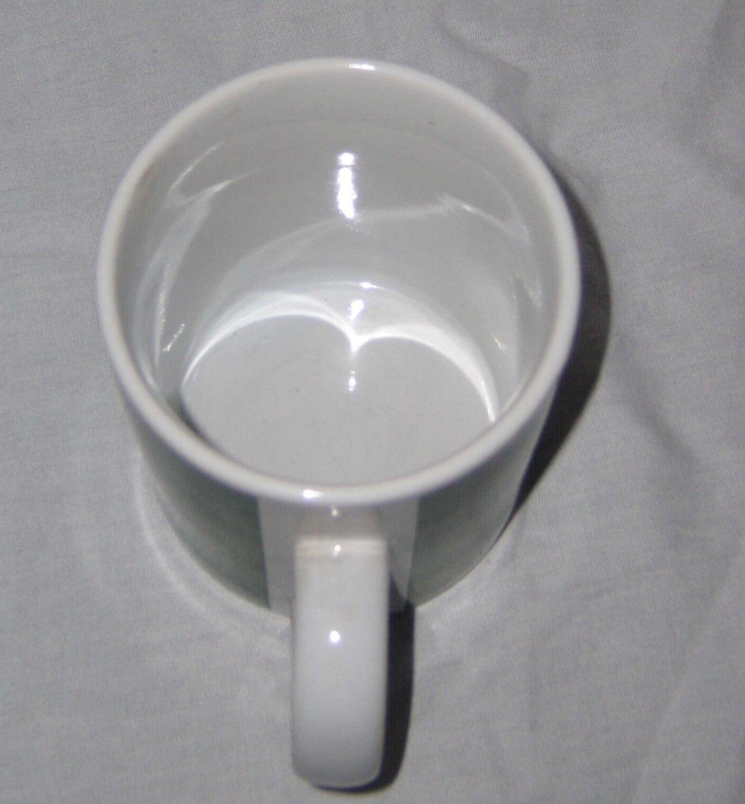 John Deere Coffee Cup Mug Green White Deer Gibson Moline ILL  EUC