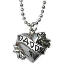 """Daddy Tattoo Fine Sterling Silver Pendant on Ball Chain 18"""" .925 Femme M... - $195.00"""