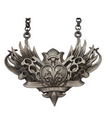Knux and Stuff Ornate Brass Knuckes & Blades Chain Necklace by Kitsch n ... - $24.00