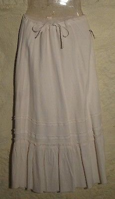 Primary image for White Peasant Skirt Sz.6  NWT!
