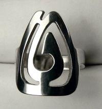 Swirl WIDE Sterling SILVER Women's Ring size 7 - $23.99