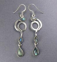 """Labradorite Sterling Silver EARRINGS 2.75"""" - $26.81"""