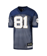 Notre Dame Fighting Irish Tim Brown #81 Navy Embroidered Jersey Medium - $145.00