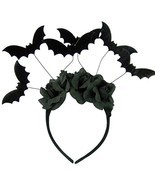 Halloween Black Bat Headband Costume Accessory - £13.19 GBP