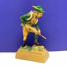 Black Forest Germany figurine hand carved hunter huntsman rifle state de... - $84.15