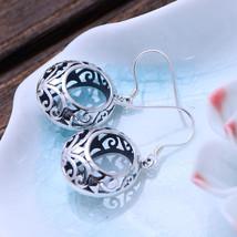 BALMORA 925 Sterling Silver Openwork Pattern Dangle Earrings for Women M... - $28.81