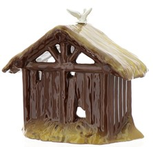 Hagen-Renaker Specialties Ceramic Nativity Figurine Manger with Dove image 4