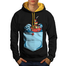 Sailor Ship Sea Fashion Sweatshirt Hoody  Men Contrast Hoodie - $23.99+