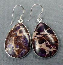 Purple Sediment Jasper Sterling Silver Dangle Earrings  - $17.40