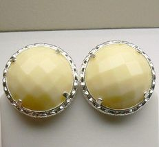 Large Sterling Silver Agate Round Earrings Rrp $150 - $27.75