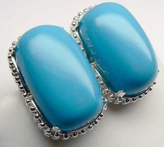 Big Sterling Silver Turquoise Earrings Rrp $145 - $26.33