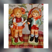 """Vintage figurine country children wales 9"""" x 3 1/2"""" 1940'S - $19.99"""