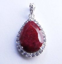 5.25 CT Genuine RUBY Sterling SILVER Pendant  - $37.53