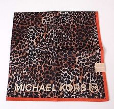"MICHAEL KORS Signature Handkerchief 20"" x 20"" Scarf Cotton Animal Print - £18.04 GBP"