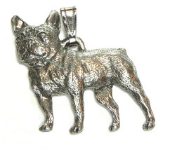 French Bulldog Frenchie Pendant Dog Harris Fine Pewter Made in USA jewelry - $10.99
