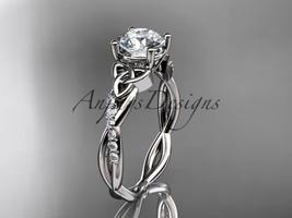 Platinum  diamond celtic trinity knot wedding ring, engagement ring CT7388 - $1,275.00