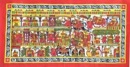 Indian Phad Art Handmade Miniature Scroll Decor Ethnic Rajasthan Folk Pa... - $129.99