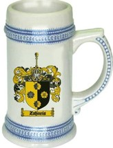 Zahneis Coat of Arms Stein / Family Crest Tankard Mug - $21.99