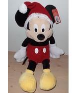 Disney Plush Santa Mickey Mouse 20 Inch Christmas Plush NEW - $19.99