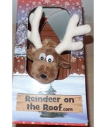 Reindeer on the Roof Plush Reindeer Barn Color Book Santas Christmas Lis... - $14.99