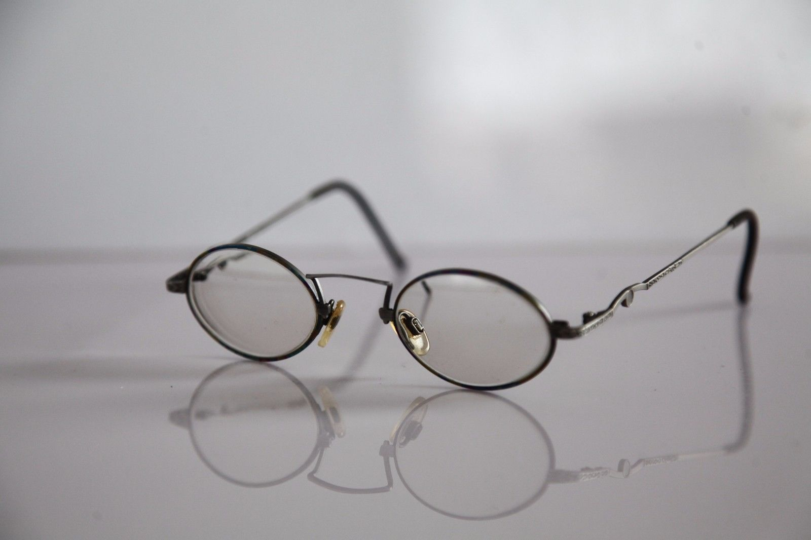 CLAUDIO P. Eyewear, Silver Frame, RX-Able Prescription lenses. Made in Italy