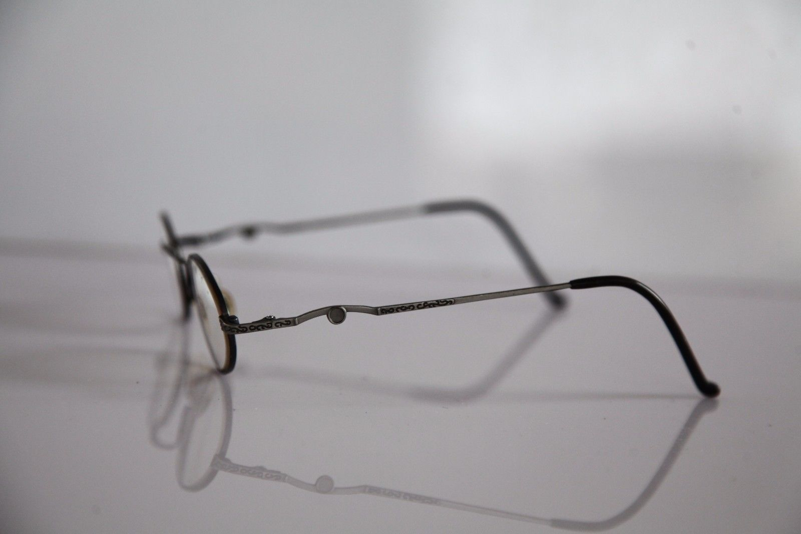 CLAUDIO P. Eyewear, Silver Frame, RX-Able Prescription lenses. Made in Italy image 4
