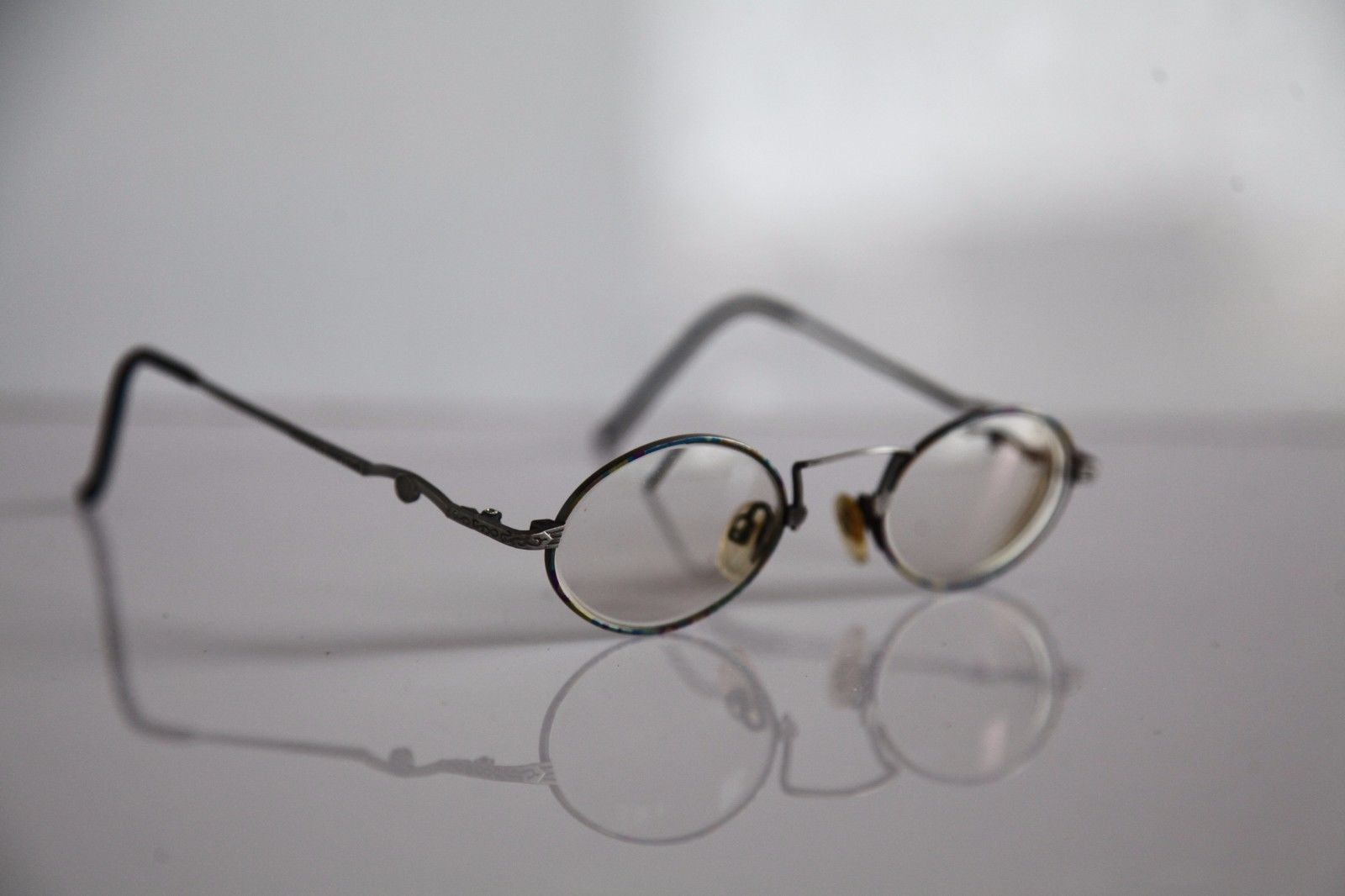 CLAUDIO P. Eyewear, Silver Frame, RX-Able Prescription lenses. Made in Italy image 2
