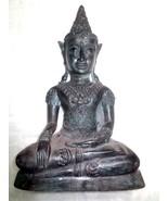 9 Inch Big Ancient Phra Chai Bucha Zong Krueng Ngang Statue Thai Buddha ... - $149.99
