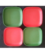Tupperware Toys Set of 4 - 4 inch Plates Red Gr... - $21.55