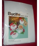 1993 Bucilla Plastic Canvas 61169 SANTA FACE CO... - $47.03