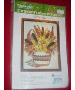 WonderArt 5282 FALL BOUQUET Embroidery Kit   NIP - $49.97