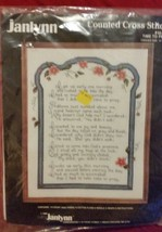 1988  Janlynn Counted Cross Stitch Kit  # 50-954 TIME TO PRAY  NIP - $43.99