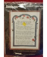 1988  Janlynn Counted Cross Stitch Kit  # 50-95... - $43.11