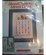Christmas Cross Stitch Kit Blessed Nativity Adv... - $97.99