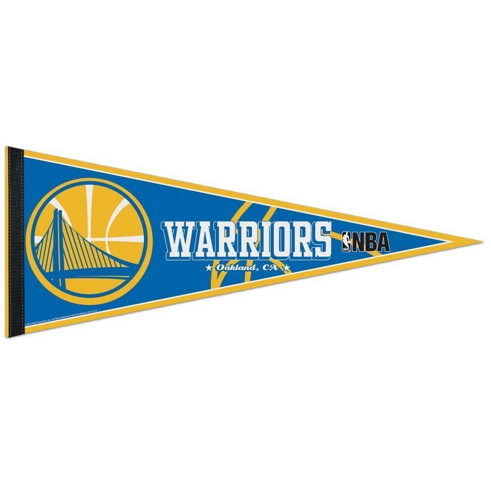 "2 GOLDEN STATE WARRIORS TEAM FELT PENNANT 12""X30"" NBA BASKETBALL Ships FLAT!"