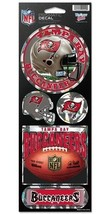 TAMPA BAY BUCCANEERS PRISMATIC HOLOGRAPH STICKER DECAL SHEET OF 5 NFL FO... - $5.81