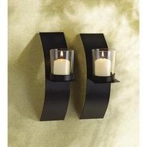 Candle Holder Set Wall Mount Tea Light Decor Sconce Accent Glass Art Hom... - $23.54
