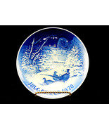 """Bing & Grondahl 6"""" Christmas Plate,""""Pheasants in the Snow at Christmas"""" ... - $14.65"""