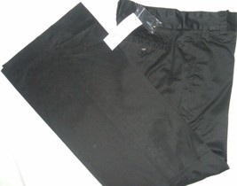 NWT French Connection 100% Cotton Womens Pants Straight 4 Black MSRP-$12... - $23.38