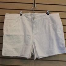 "New Womens Lane Bryant Plus Size 26 W White Eyelett Denim ""Jean"" Shorts Adorable - $18.37"