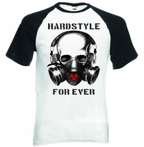 Hardstyle For Ever Skull Dj   New Black Sleeved Baseball Cotton Tshirt - $27.47