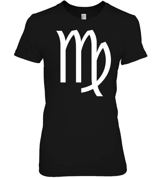 Virgo Symbol T Shirt   Virgo Season Zodiac Sign Shirt