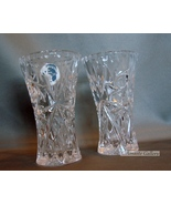 "Set of Two Lenox Crystal Small Vases Czech Republic 4""  - $19.99"