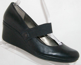 Kenneth Cole Reaction 'Newsworthy' black leather mary jane wedge 9.5M - $28.29