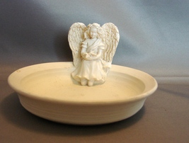 Angelstar Angel of Peace  Candle Holder Display Dish - $10.99