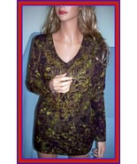 NEW S 4 6 PURPLE GREEN GOLD BLING BLACK WOMEN TEE T TUNIC PULLOVER TOP S... - $14.99